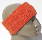 knitted headband, orange wool